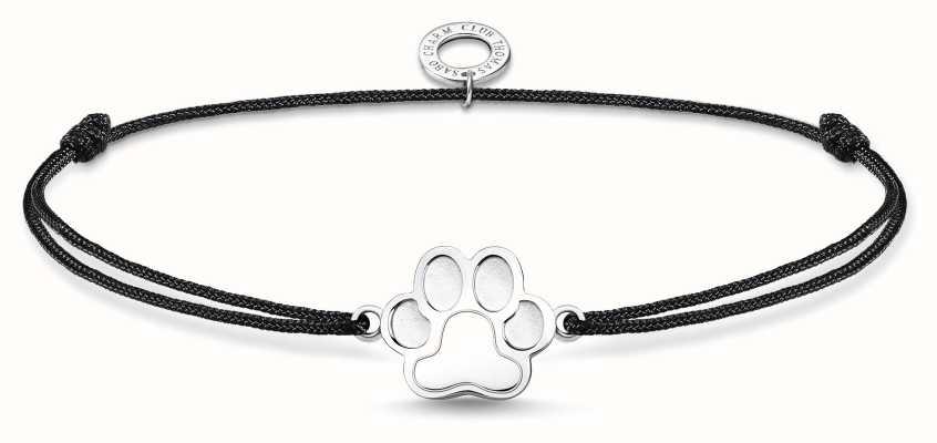 Thomas Sabo Little Secrets | Black Nylon Paw Print Bracelet LS123-173-5-L20V
