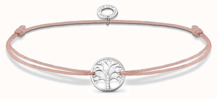 Thomas Sabo Little Secrets | Pink Nylon Tree Of Love Bracelet LS125-401-19-L20V