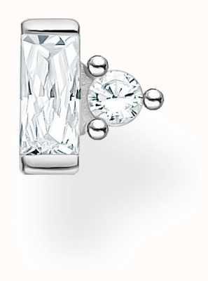 Thomas Sabo Sterling Silver Single Stud Earring   Baguette & Circle Stones H2186-051-14