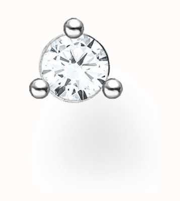 Thomas Sabo Sterling Silver Single Stud Earring   White Stones H2197-051-14