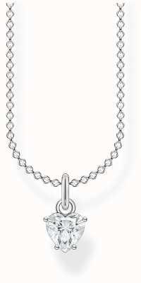 Thomas Sabo Sterling Silver Heart Pendant Necklace | White Stones KE2105-051-14-L45V