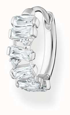 Thomas Sabo Sterling Silver Single Hoop Earring   White Stones CR665-051-14