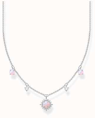 Thomas Sabo Sterling Silver Vintage Necklace | Shimmering Pink Opal Effect KE2094-166-7-L45V