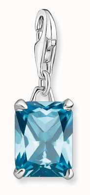 Thomas Sabo Sterling Silver Large Blue Stone Charm Pendant 1871-009-31