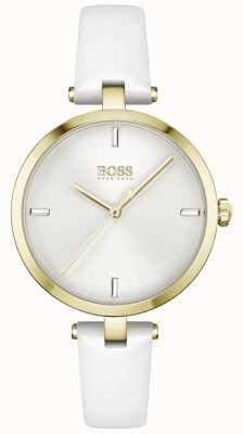 BOSS | Majesty | Women's | White Leather Strap | White Dial | 1502588