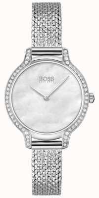 BOSS Gala | Women's Stainless Steel Mesh Bracelet | Silver Dial 1502558