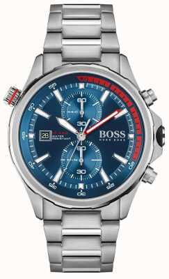 BOSS Globetrotter | Men's Stainless Steel Bracelet | Blue Dial 1513823