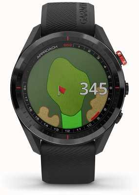 Garmin Approach S62   Golf GPS   Cermamic Bezel   Black Silicone 010-02200-00