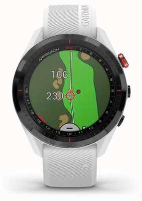 Garmin Approach S62   Golf   GPS   Ceramic Bezel   White Silicone 010-02200-01