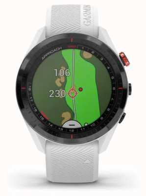 Garmin Approach S62 | Golf | GPS | Ceramic Bezel | White Silicone 010-02200-01