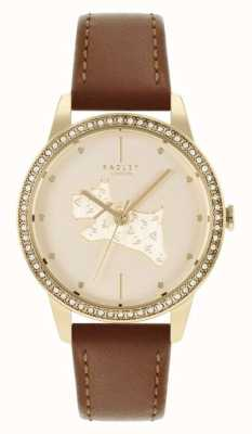 Radley | Women's | Brown Leather Strap | Gold Dog Motif Dial | RY21180