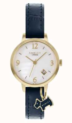 Radley | Women's | Navy Leather Strap | White Mother Of Pearl Dial | RY21212