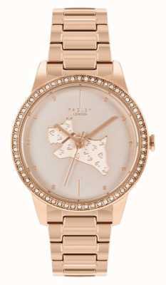 Radley | Women's | Rose Gold Plated Steel Bracelet | Rose Gold Dog Print Dial | RY4556