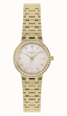 Radley Women's Gold Plated Steel Bracelet | Mother Of Pearl Dial RY4564