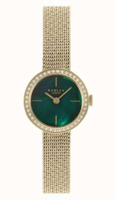 Radley | Women's | Gold Plated Mesh Bracelet | Green Mother Of Pearl Dial | RY4568