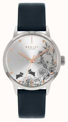 Radley Women's Blue Leather Strap | Silver Dial RY21241A