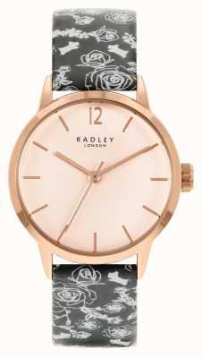 Radley Women's Black Pattern Strap | Rose Dial RY21246A