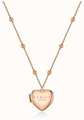 Radley Jewellery Love Letters | Rose Gold Plated Heart Locket Necklace RYJ2158S-CARD
