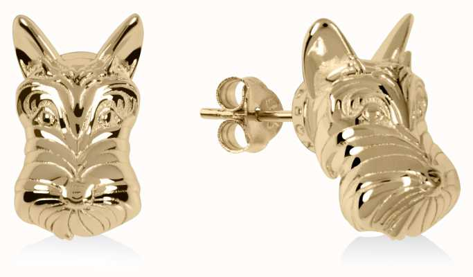 Radley Jewellery Radley & Friends | Gold Plated Scottie Dog Stud Earrings RYJ1174S-CARD