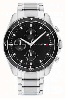 Tommy Hilfiger Parker | Men's Stainless Steel Bracelet | Black Dial 1791835