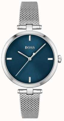 BOSS Womens | Majesty | Blue Dial | Stainless Steel Mesh 1502587