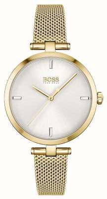 BOSS Women's | Majesty | Silver Dial | Gold PVD Mesh Bracelet 1502586