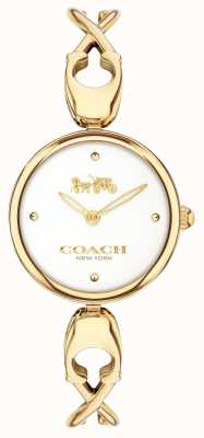 Coach Caroll | White Dial | Gold PVD Plated Steel 14503749