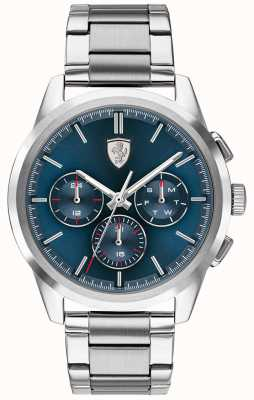 Scuderia Ferrari | Grand Tour | Blue Dial | Stainless Steel Bracelet | 0830804