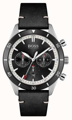 BOSS | Men's | Santiago | Black Dial | Black Leather Strap | 1513864
