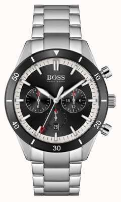 BOSS | Men's | Santiago | Black Dial | Stainless Steel Bracelet | 1513862