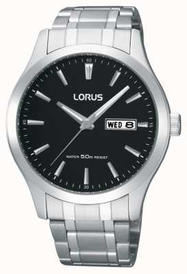 Lorus Mens | Black Dial | Stainless Steel Bracelet RXN23DX9