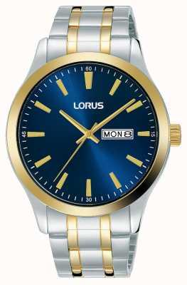 Lorus Men's | Blue Dial | Two Tone Stainless Steel Bracelet RH342AX9