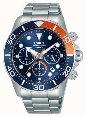 Lorus Mens | Chronograph | Blue Dial | Stainless Steel Bracelet RT345JX9
