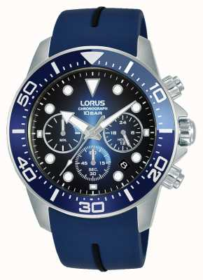 Lorus Mens | Chronograph | Blue Dial | Blue Silicone Strap RT349JX9