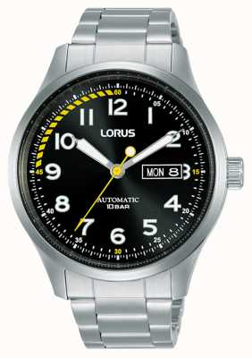 Lorus Mens | Automatic | Black Dial | Stainless Steel Bracelet RL457AX9