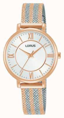 Lorus womens | White Dial | Two Tone Mesh Bracelet RG216TX9