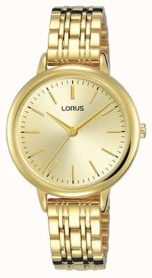 Lorus Women's | Gold Sunray Dial | Gold PVD Plated Steel Bracelet RG204QX9