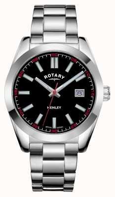 Rotary Men's | Henley | Black Dial | Stainless Steel Bracelet GB05180/04