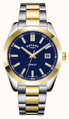Rotary Men's | Henley | Blue Dial | Two Tone Stainless Steel Bracelet GB05181/05
