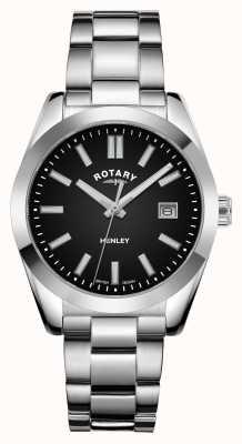 Rotary Womens | Henley | Black Dial | Stainless Steel Bracelet LB05180/04