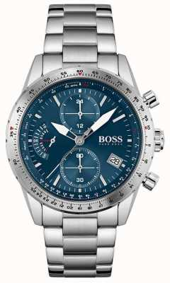 BOSS Pilot Edition | Men's Stainless Steel Bracelet | Blue Dial 1513850