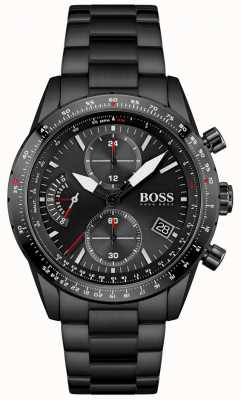 BOSS Pilot Edition | Men's Black Stainless Steel Bracelet | Black Dial 1513854