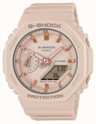 Casio Mid Sized G-Shock | Pale Pink Resin Strap | Pink Dial GMA-S2100-4AER