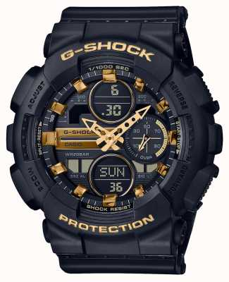 Casio Unisex Sports | G-Shock | Black Resin Strap | Black Dal | GMA-S140M-1AER