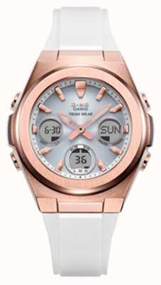 Casio G-Shock | MSG -Rose-Gold IP | White Resin Strap MSG-S600G-7AER