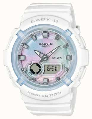 Casio Baby-G | White Resin Strap | Multi-Coloured Dial BGA-280-7AER