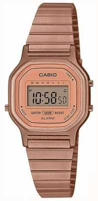Casio Vintage | Rose Gold Plated Steel Bracelet | Digital Display LA-11WR-5AEF
