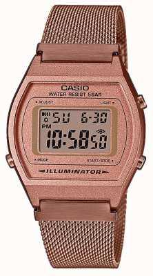 Casio Vintage | Digital | Rose Gold PVD mesh Bracelet B640WMR-5AEF