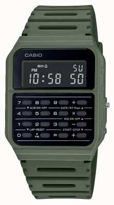 Casio Retro Calculator Watch | Green Resin Strap | Black Dial CA-53WF-3BEF