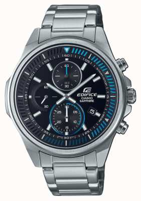 Casio Edifice -Classic Collection | Stainless Steel Bracelet | Black Dial EFR-S572D-1AVUEF